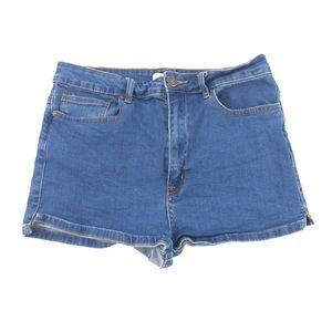Forever 21 Women's Blue Jean Hogh Rise Shorts 29